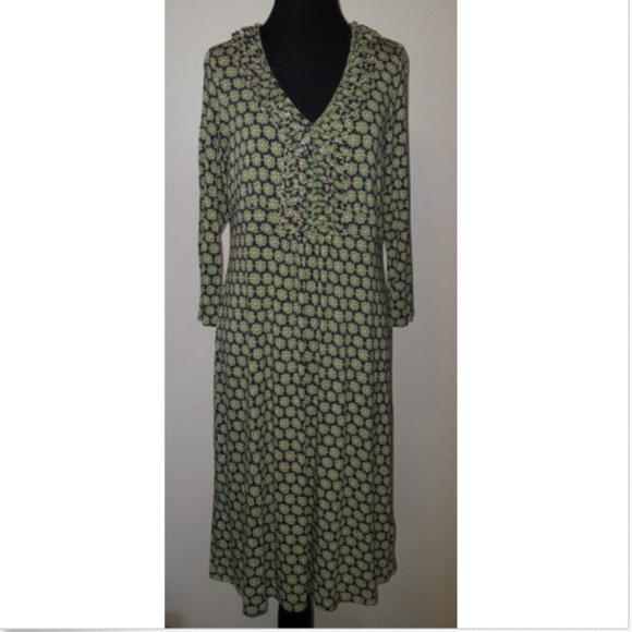 95f0ba303d6 Boden Dresses   Skirts - Boden Purple Green Floral 3 4 Sleeve Jersey Dress